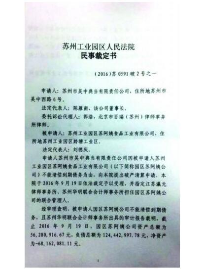 本土企业苏阿姨公司破产,被迫转让商标