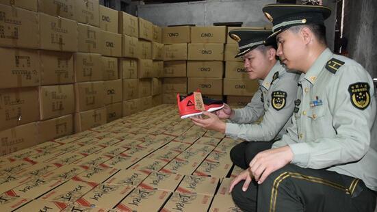 泉州边防查处假冒泉州注册商标案 缴获假鞋1500双
