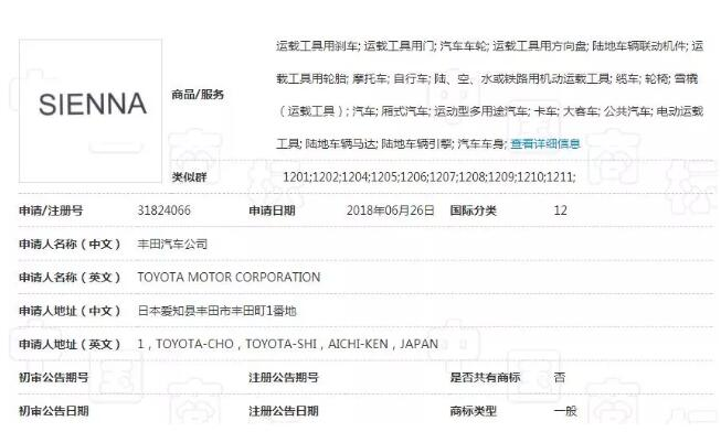 汽车巨头丰田在华注册商标布局知识产权