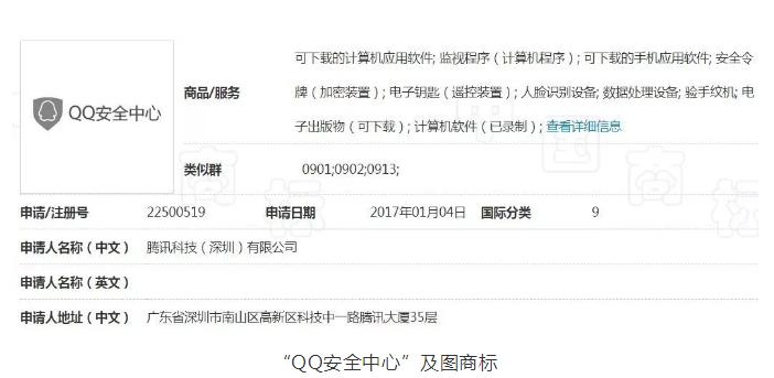 QQ安全中心商标被驳回,原来是撞车360的安全中心商标!