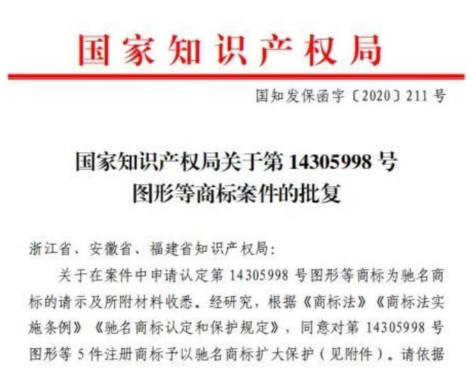 喜报!衢江区再增一件中国驰名商标