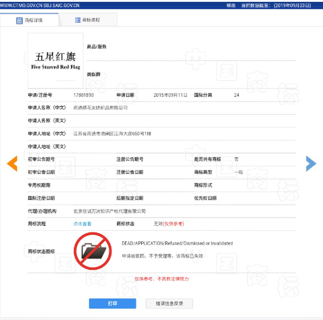 """70岁的新""""中国"""",也有商标?"""