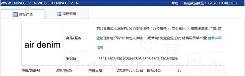 佛山纺企成功注册Denim Obsession等商标