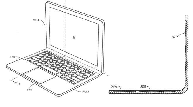 新专利显示苹果未来笔电可能采用可弯曲一体成型设计