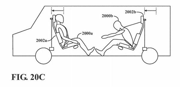 颠覆传统汽车!苹果新专利显示安全带和车顶也配安全气囊