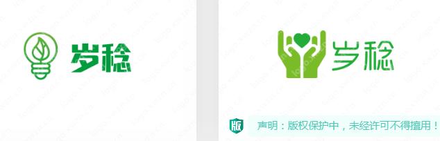 绿色系--【岁稔】logo生态农业logo作品赏析