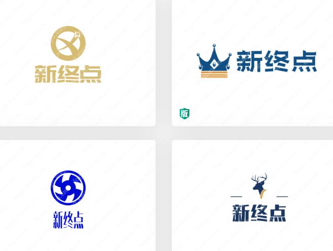 来一波优秀的logo{【新终点】,为创业者助力