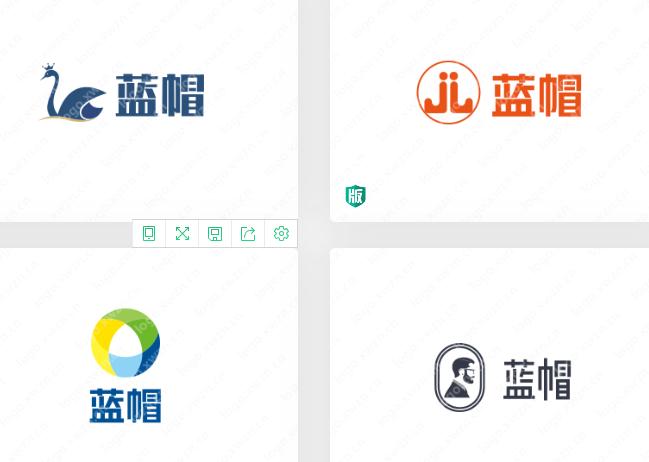 分享一组蓝帽logo,简单、实用、高效