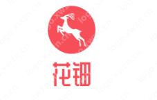 """以红色为主的""""花钿""""logo设计 文雅好看"""
