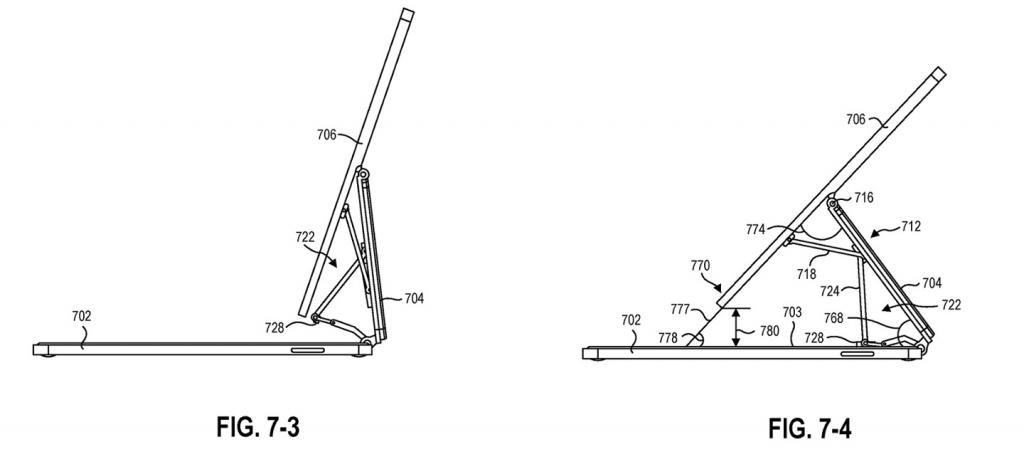 2021年7月28日微软 Surface 新专利曝光,类似苹果 iPad 妙控键盘设计