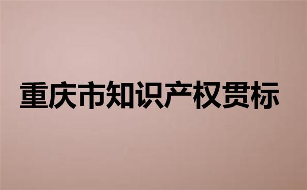 重庆市知识产权贯标
